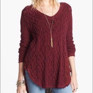Free People Cross My Heart High/Low Sweater